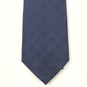 Gucci GG Blue 100% Silk Tie #386486